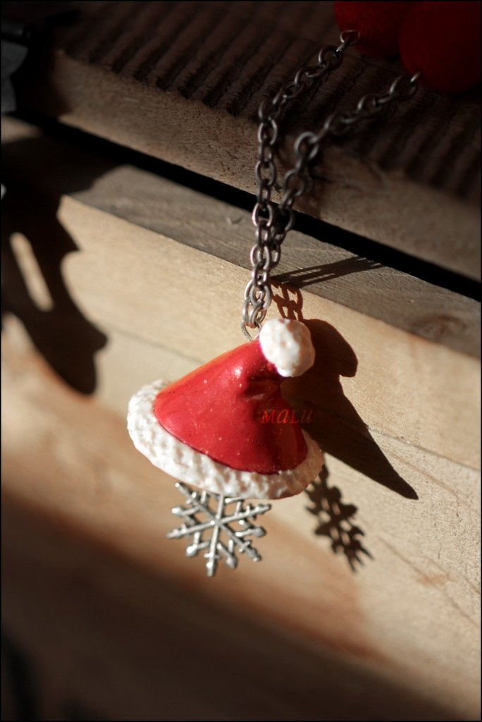 collana cappello di Babbo Natale - idea Regalo -