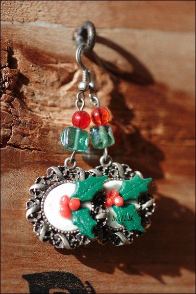 orecchini Ghirlanda di Natale - idea Regalo -