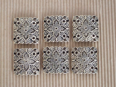 6 moduli bracciale metallo dorato quadrati