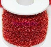 Catena in alluminio colorata di Qualità al metro 4x3mm rosso