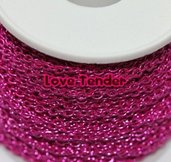 Catena in alluminio colorata di Qualità al metro 4x3mm fucsia