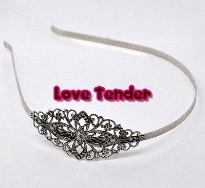 Cerchietto per capelli in filigrana filigranato da decorare 3,5cm color argento