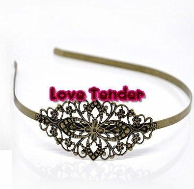 Cerchietto per capelli in filigrana filigranato da decorare 3,5cm color bronzo