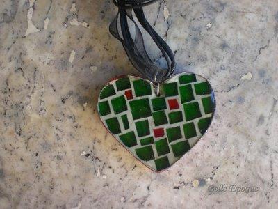 Ciondolo cuore a mosaico