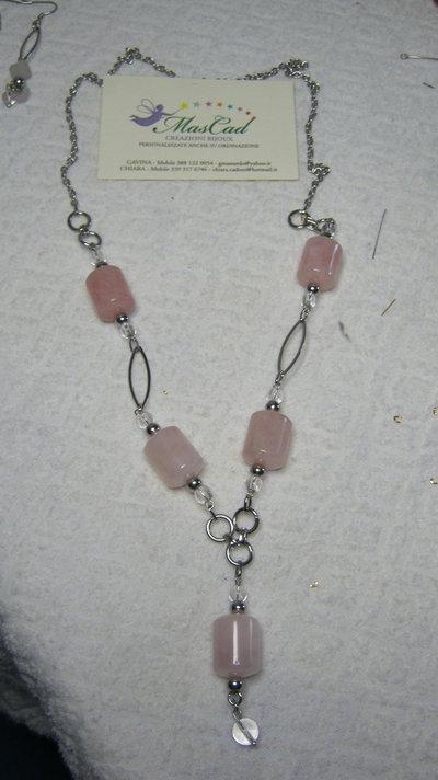 collana con quarzo rosa!