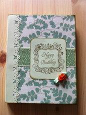 """Book card """"Happy Birthday"""" - Biglietto auguri"""