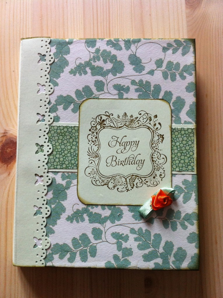 "Book card ""Happy Birthday"" - Biglietto auguri"