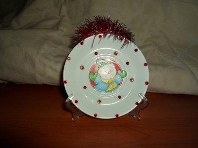 Piatto natalizio decorato