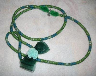 Collana rocailles - coordinata con Spilla e cabochon