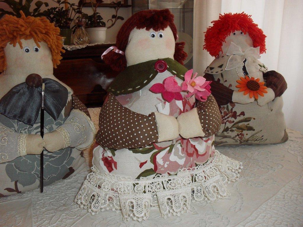 Fermaporta o pupazzo-decorazione - Carolina