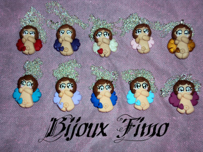 collana angelo in fimo