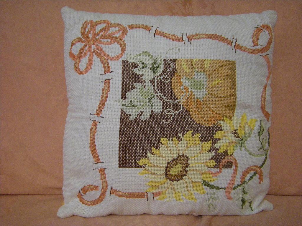 cuscino con girasoli