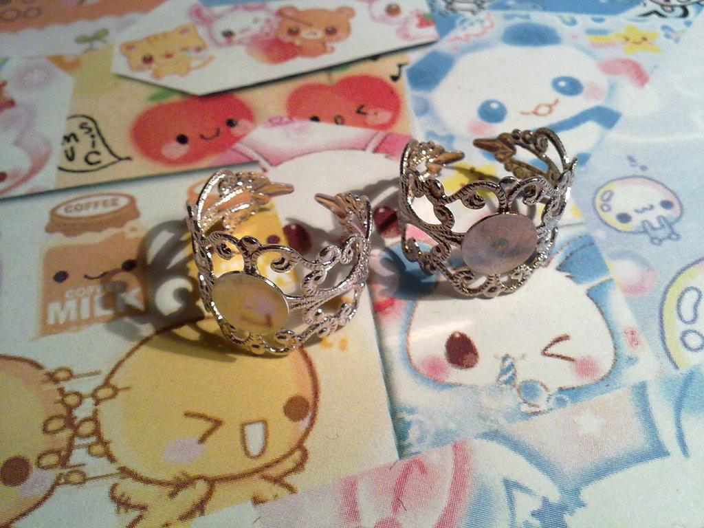 Base anello filigrana color argento