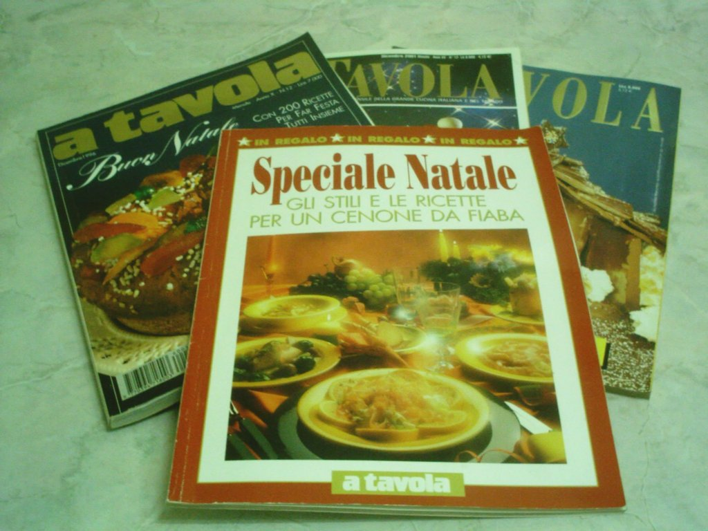 4 RIVISTE A TAVOLA SPECIALE NATALE