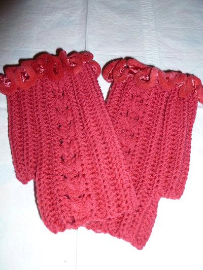 guanti lana fatti all'uncinetto