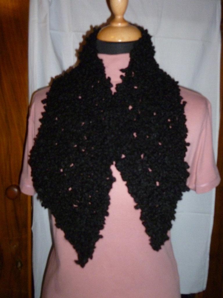 scalda collo lana fatto ai ferri