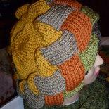 berretto in lana lavorato ai ferri