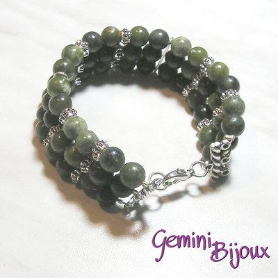 Bracciale green lace stone