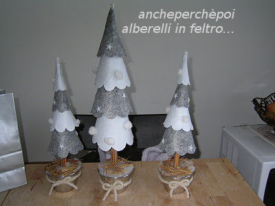 idea regalo natale - alberello feltro