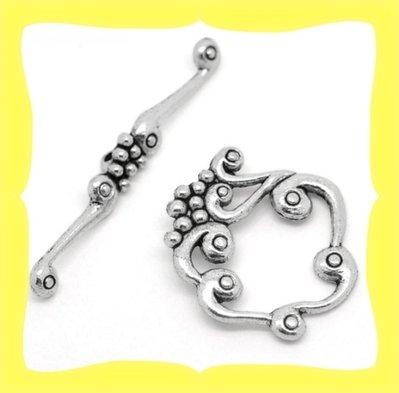 2 Chiusura color argento anticato grande