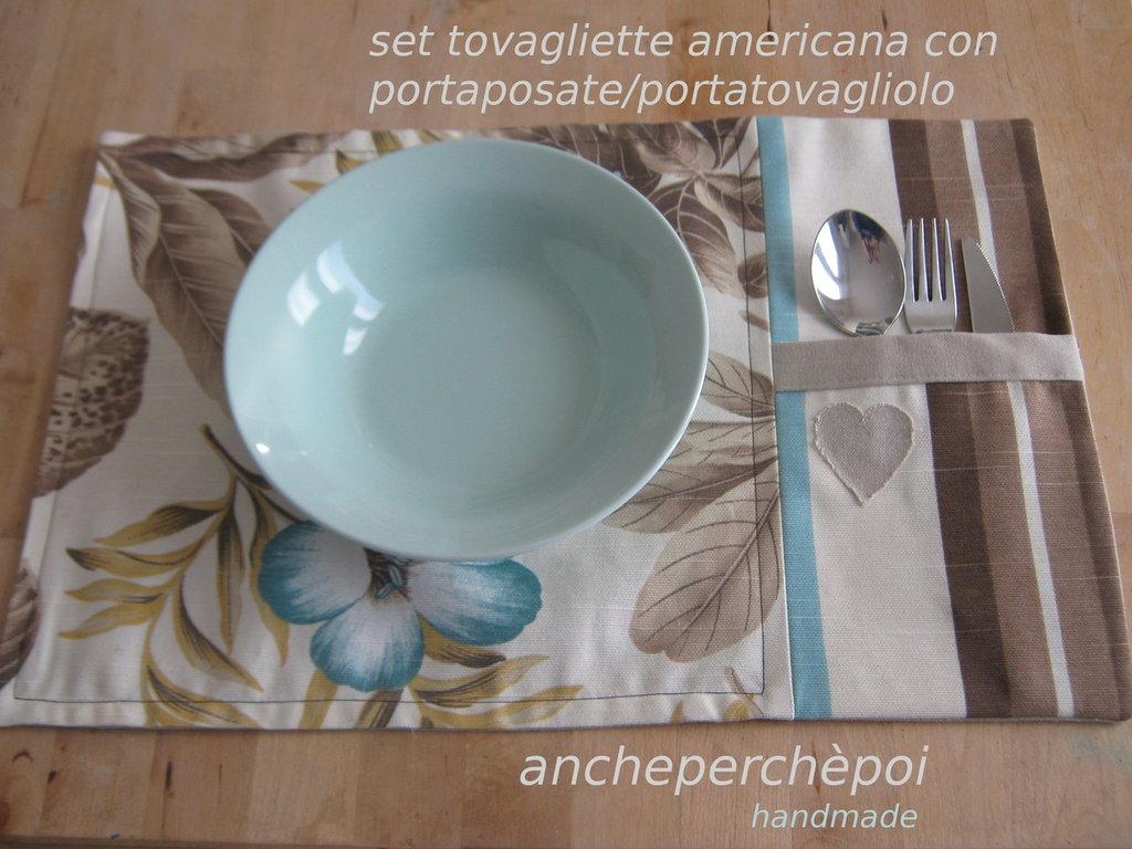 set tovagliette americana