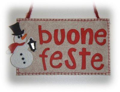 BUONE FESTE - SNOWMAN