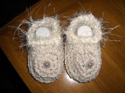 Scarpine scarpette neonato bambina uncinetto