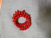 Bracciale rosso con filo armonico