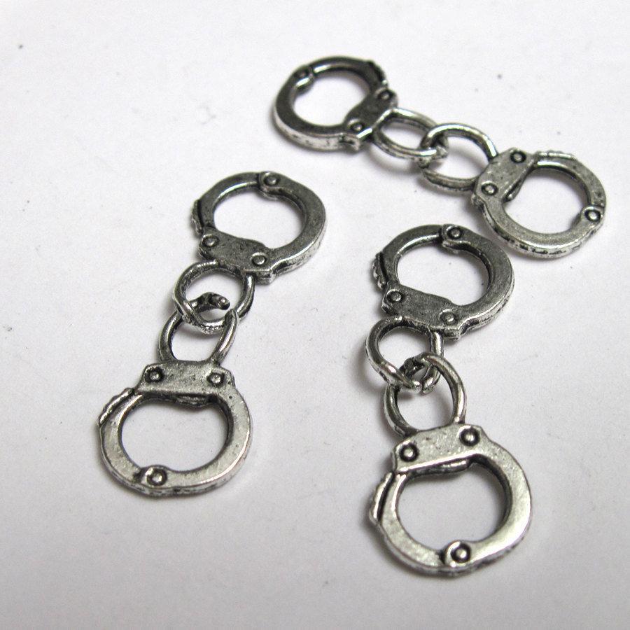 4 Ciondoli manette - Handcuffs charms