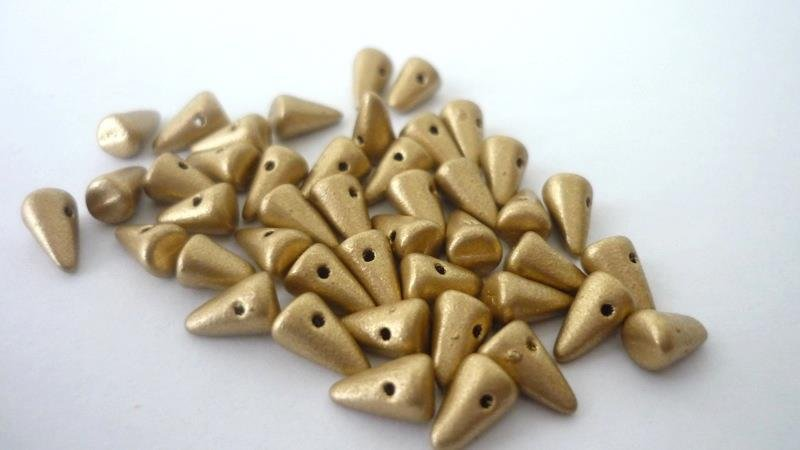 Baby Spike  5x8 mm    Matted Gold