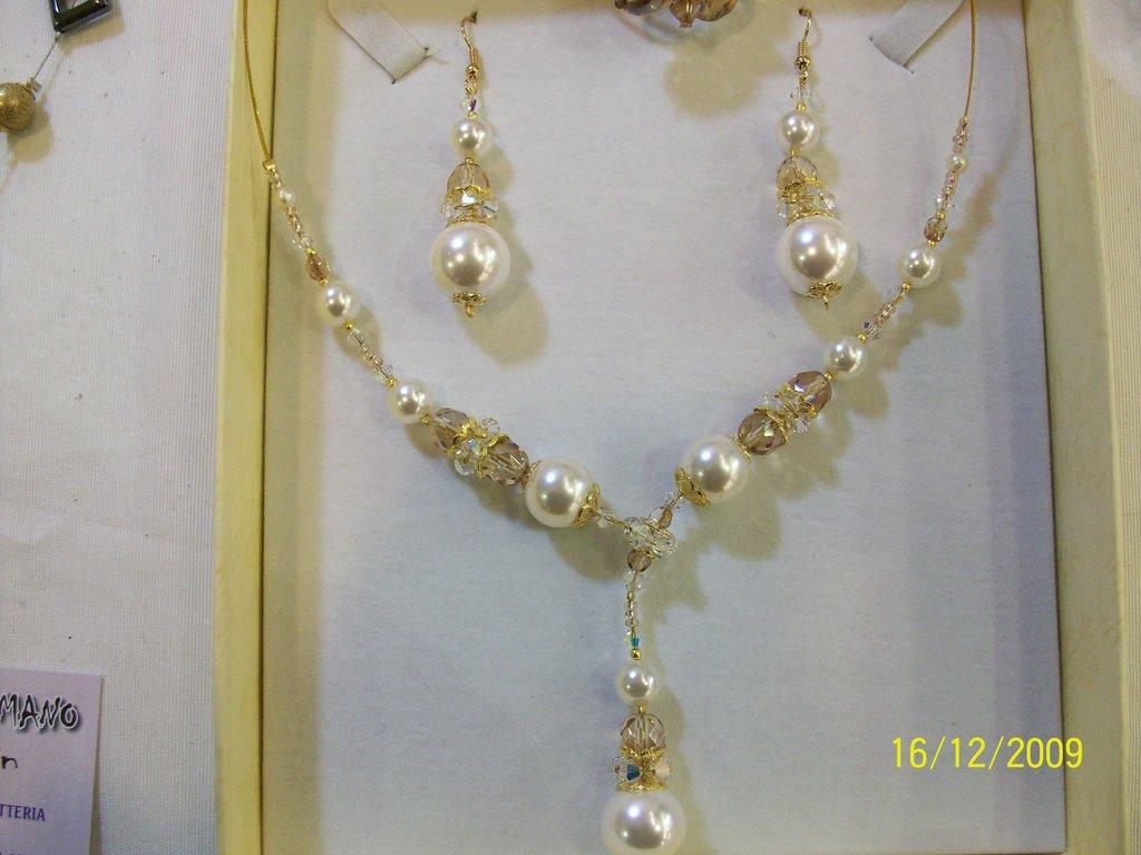 set perle e swarovski (girocollo + orecchini)