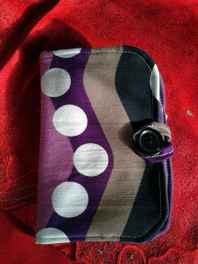 Astuccio porta cellulare stoffa fantasia viola