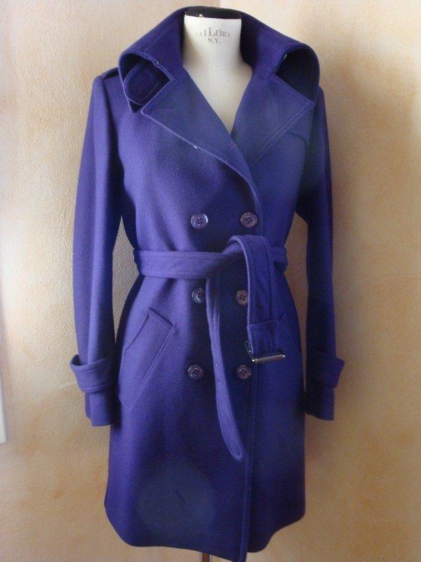 Cappotto tg. 42 pura lana colore viola