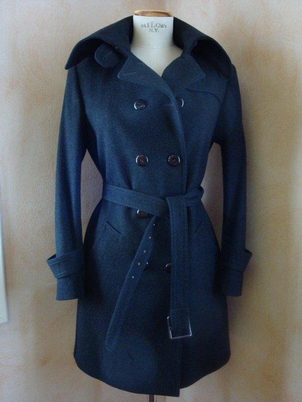 Cappotto tg. 42 pura lana colore grigio antracite