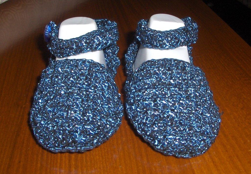 Scarpine scarpette neonato bambina bimba uncinetto