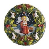 PANNELLO decorativo in bassorilievo fatina dei conigli