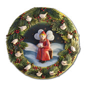 PANNELLO decorativo in bassorilievo fatina deegli uccellini - decorazione da parete
