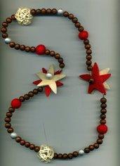 Collana di Natale con stelle