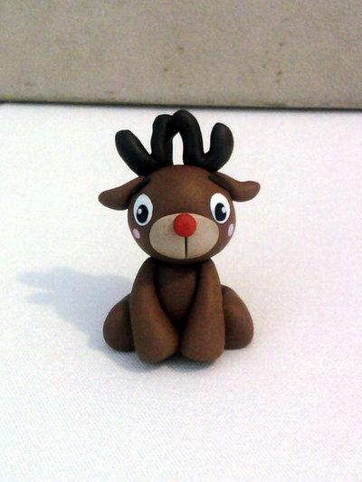 Renna di Babbo Natale - Rudolph fimo
