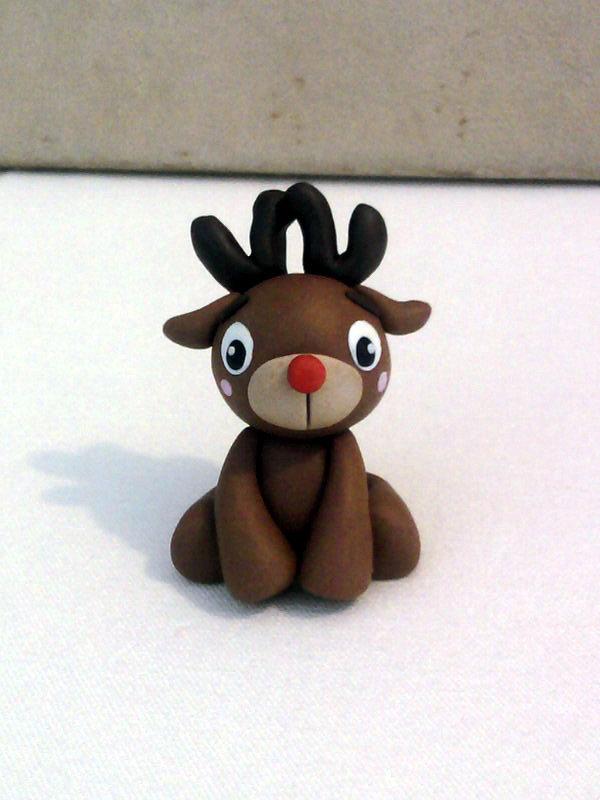 Rudolph La Renna Di Babbo Natale.Renna Di Babbo Natale Rudolph Fimo Bambini Giocattoli Di My