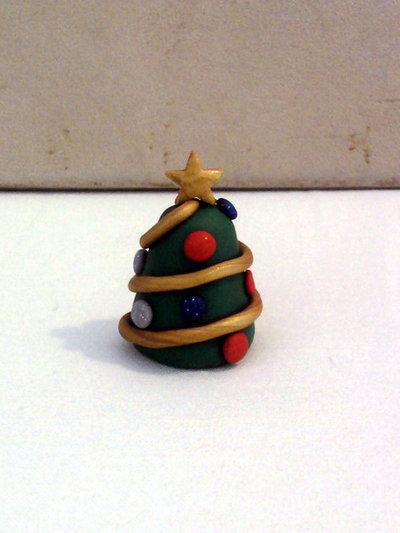Mini albero di Natale fimo