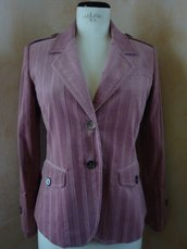 Giacca tg. 42 velluto colore rosa antico