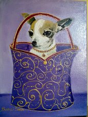 "Quadretto"" chihuahua in borsa"""
