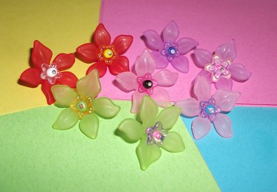 Ciondoli fiori - lotto charm (8 pz)