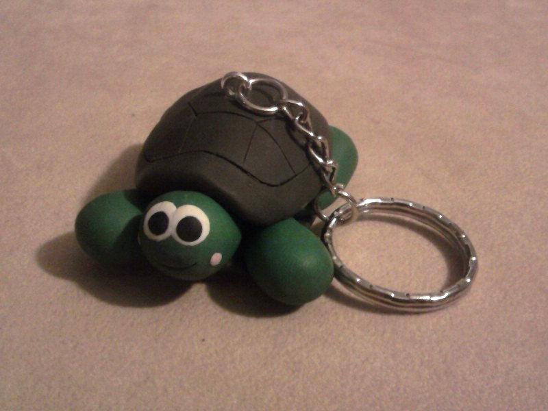 Portachiavi con tartaruga fimo