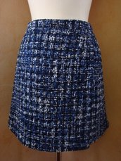 Gonna tg. 42 bouclè lana blue-azzurro
