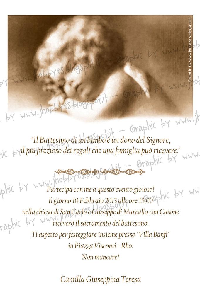 Invito Battesimo Angel