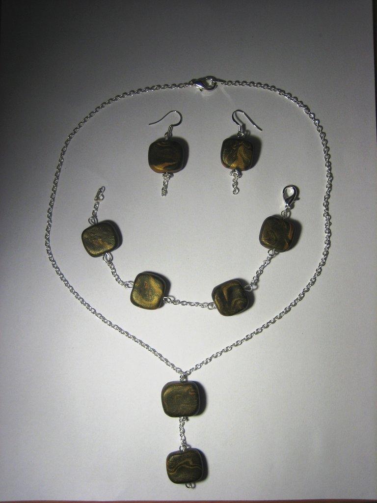 Set 3 pz - bracciale - orecchini - collana