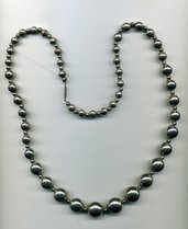 Collana con perle argentate degrade'
