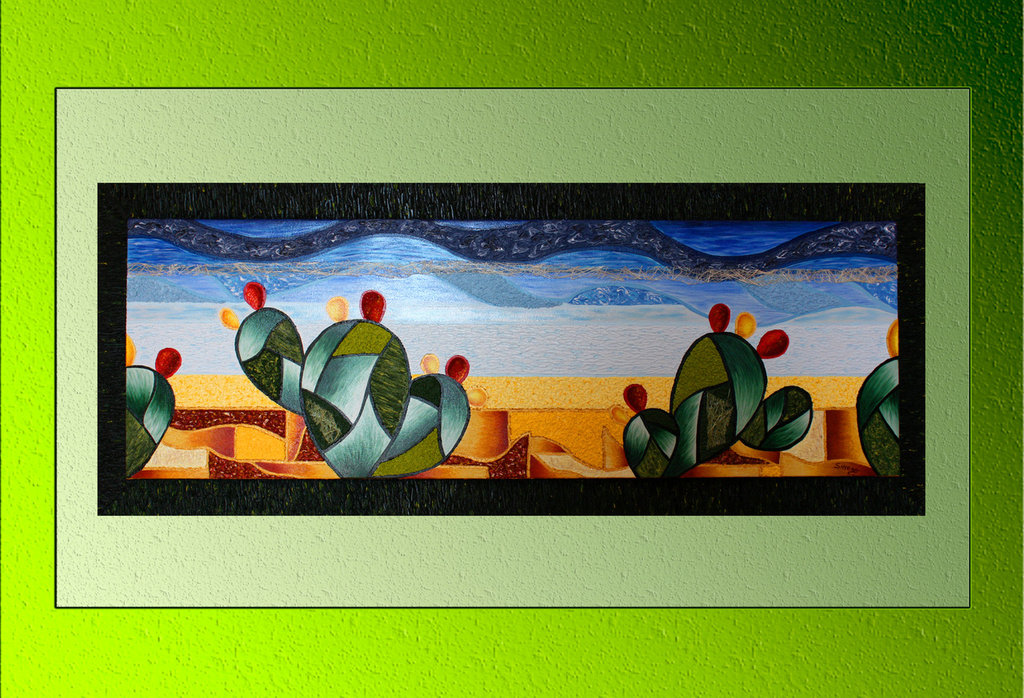 Quadro moderno tela dipinta a mano con cornice